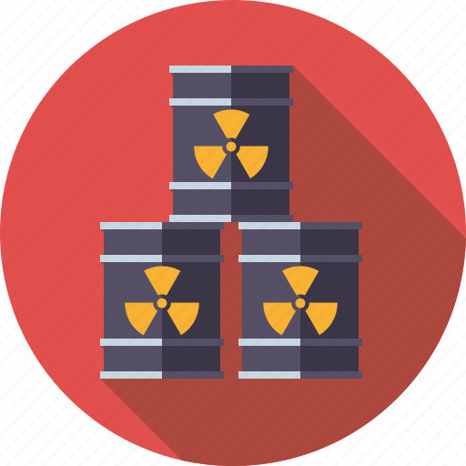 barrels, danger, environment, radioactive, stack, waste icon