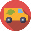 ecology, electric, environment, low emission, transport, van, vehicle icon
