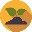 environment, leaves, plant, planting, soil, sprout icon