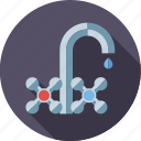 dripping, drop, environment, faucet, tap, wasting, water icon