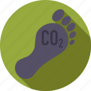 carbon, environment, foot, footprint icon