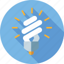 bulb, energy saving lightbulb, environment, esl, lamp, light icon