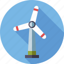 energy, environment, renewable, sustainable, wind turbine icon