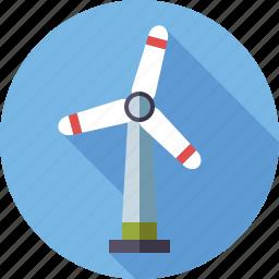 energy, environment, renewable, sustainable, wind turbine icon