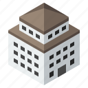 apartment, building, college, construction, hotel, office, school icon