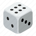 casino, dice, gamble, gambling, game, risk, win icon