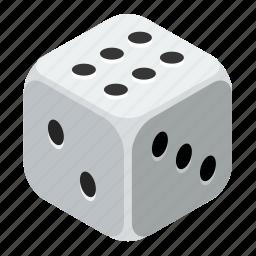 casino, dice, gamble, gambling, game, risk, win icon