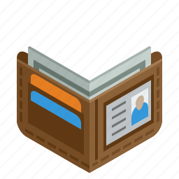 bill, cash, checkout, dollar, id card, money, pay, payment, wallet icon