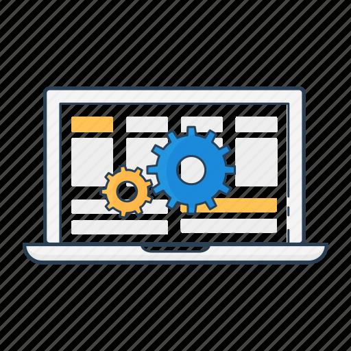 cloud sync, configuration, installation, laptop, mechanism, setup, software update icon