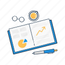 analytics, book, chart, data, graph, report, stats icon