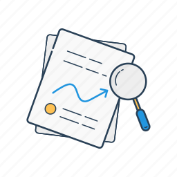 chart, files, graph, report, reports, search, stats icon