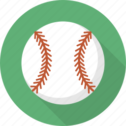 ball, baseball, circle, flatballicons, sport icon