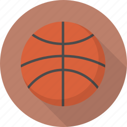 ball, basketball, circle, flatballicons, sport icon