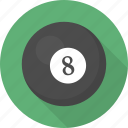ball, circle, flatballicons, pool, sport icon