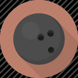 ball, bowling, circle, flatballicons, sport icon