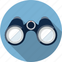 binoculars, distance, explore, explorer, find, looking, search icon