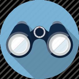 binoculars, distance, explore, explorer, find, looking, search icon