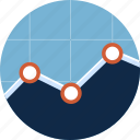analysis, business, chart, diagram, financial, graph, line graph icon