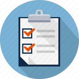 agreement, check, clipboard, contract, exam, mark, survey icon