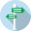 crossroads, destination, direction, guide, navigation, road, wayfinding sign icon