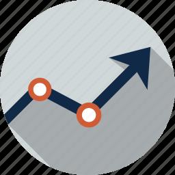 analysis, board, chart, diagram, graph, line graph, statistics icon