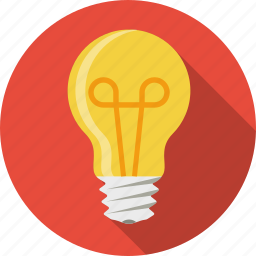 bulb, creative, idea, lamp, light, light bulb, lightbulb icon