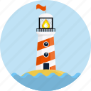 direction, house, light, lighthouse, marine, nautical, searchlight icon