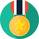 award, badge, champion, emblem, medal, quality, reward icon