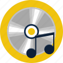 chord, compact, disc, key, music, notes, sound icon