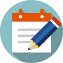 checklist, document, list, notepad, paper, pen, pencil icon