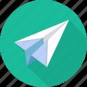 mail, paper, paper plane, plane icon