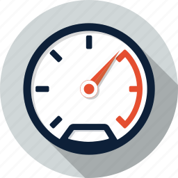 dashboard, gauge, measure, meter, speed, speedometer icon