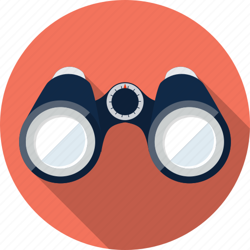 binoculars, eye, find, location, view, watch, zoom icon