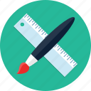 brush, design, draw, graphic, paint, ruler, webdesign icon