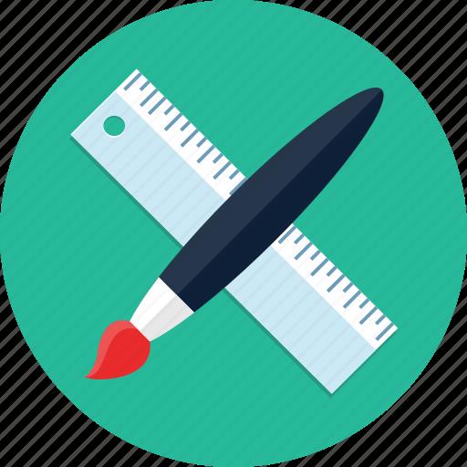 brush, design, draw, graphic, paint, ruler, webdesign icon