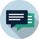 chat, chat bubble, comment, dialog, speak, speech, talk icon
