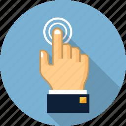 click, cursor, finger, gesture, hand, pay per click, pointer icon