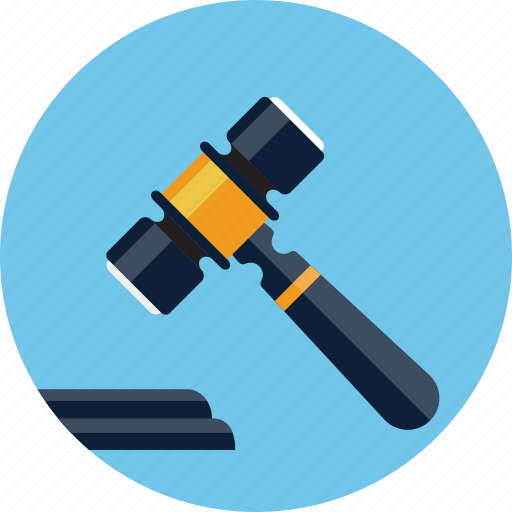 auction, bid, gavel, hammer, justice, law, mallet icon