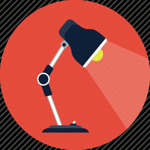 bulb, desk, desk lamp, lamp, service, table lamp icon