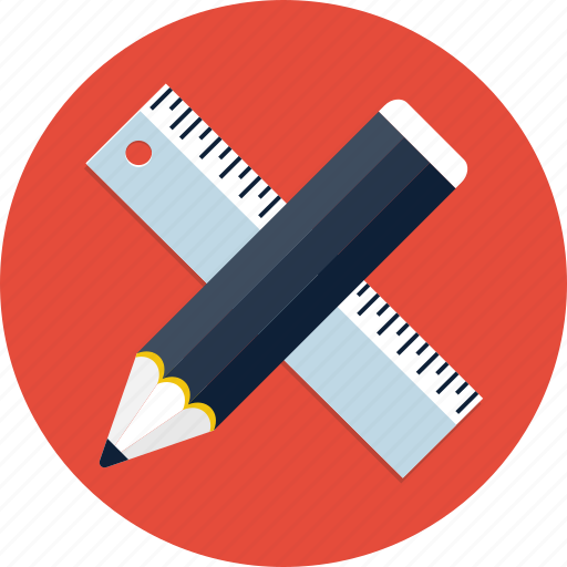 design, graphic, pen, pencil, rule, ruler, webdesign icon