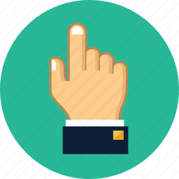 click, cursor, finger, gesture, hand, pointer, touch icon