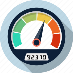 dashboard, gauge, odometer, speedometer icon