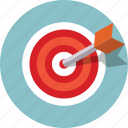 bullseye, darts, goal, target, aim, marketing icon