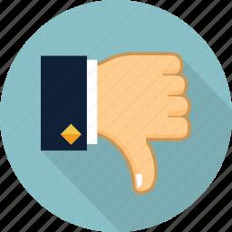 dislike, down, rate, rating, thumb, thumbdown, unlike icon