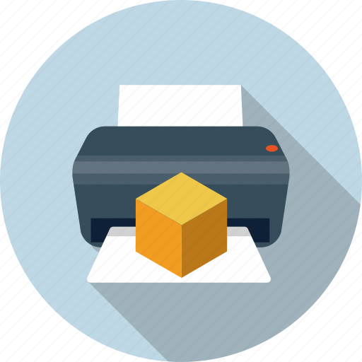 3d printer, dimensional, printer, printing, three dimensional icon
