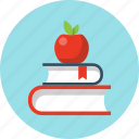 apple, book, education, knowledge, learn, school icon