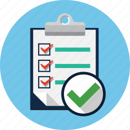 check, checklist, checkmark, clipboard, list, survey icon