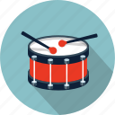 drum, drums, instrument, music, snare, sound, sticks icon