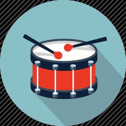 drum, drums, instrument, music, snare, sound, sticks icon