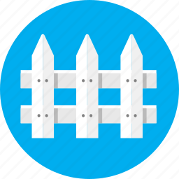 fence, garden, house, paling, picket, wall icon